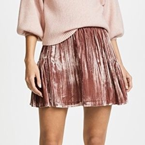 Madewell Crushed Velvet Mini Skirt - Mauve Pink